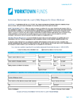 IRA Rollover Form